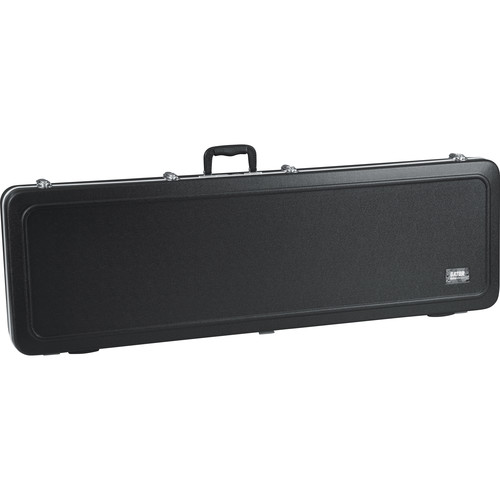 Gator Cases GC-BASS-LED GC Series Deluxe Molded Case with Built-In LED Light for Electric Bass Guitars (Black)