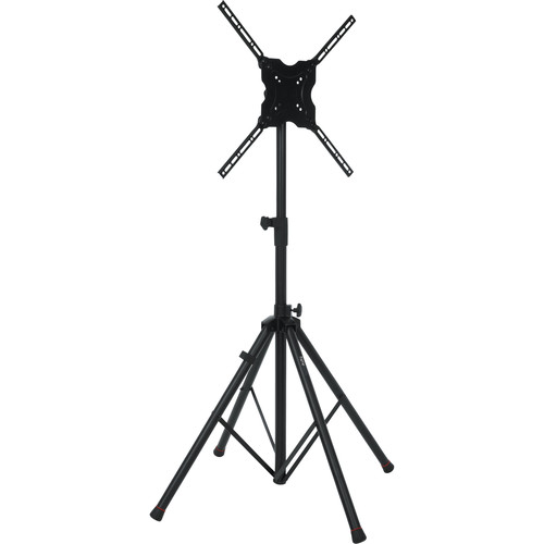 "Gator Cases Deluxe Quadpod A/V Stand for Displays up to 65"" (Black)"