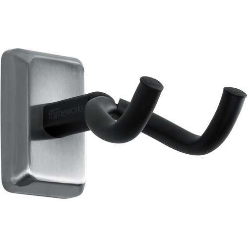 Gator Cases Wall-Mounted Guitar Hanger with Chrome Mounting Plate