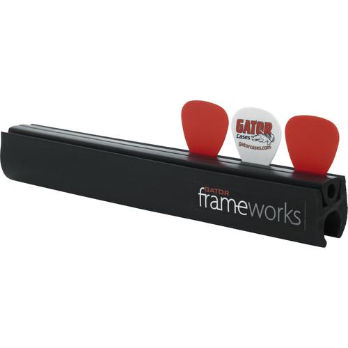 Gator Cases Frameworks Clip-On Guitar Pick and Slide Holder for Microphone Stands