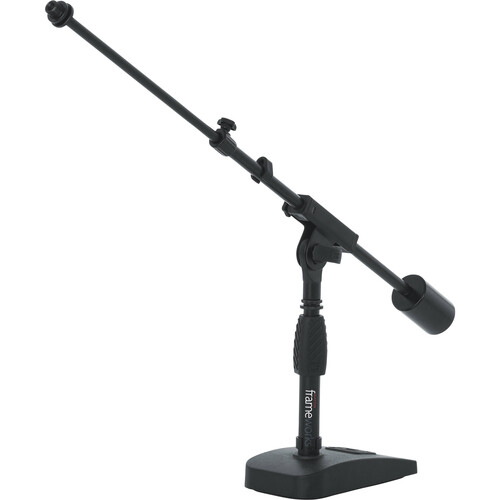 Gator Cases Telescoping Boom Mic Stand for Podcasting or Bass Drum