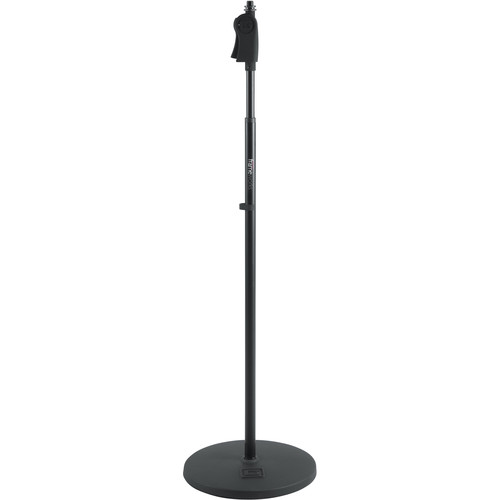 "Gator Cases Frameworks 12"" Roundbase Mic Stand with Deluxe One-Handed Clutch"