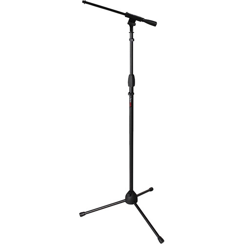 Gator Cases Frameworks Tripod Mic Stand with Standard Twist Clutch and Single Section Boom