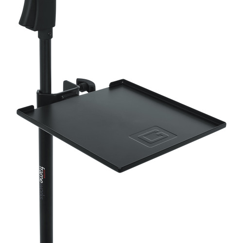 Gator Cases Frameworks Small Microphone Stand Clamp-On Utility Shelf-Capacity up to 10Lbs.