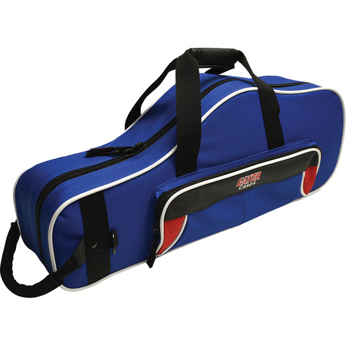 Gator Cases Spirit Series Lightweight Alto Saxophone Case (Red and Blue)