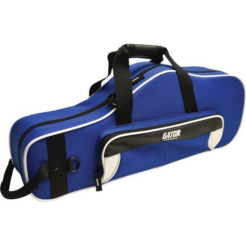 Gator Cases Spirit Series Lightweight Alto Saxophone Case (White and Blue)