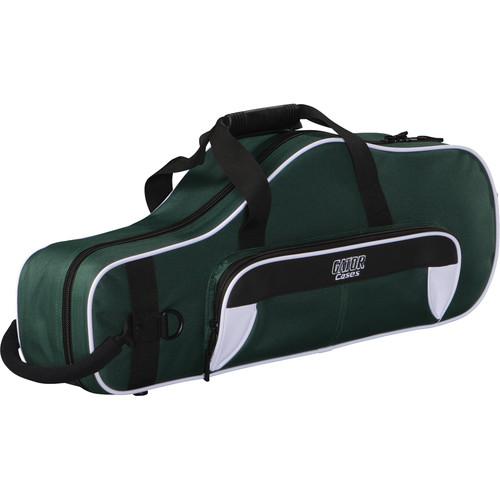 Gator Cases Spirit Series Lightweight Alto Saxophone Case (White and Green)