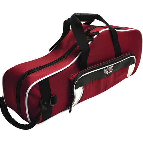 Gator Cases Spirit Series Lightweight Alto Saxophone Case (White and Maroon)