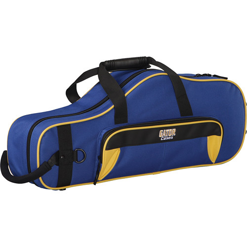 Gator Cases Spirit Series Lightweight Alto Saxophone Case (Yellow and Blue)