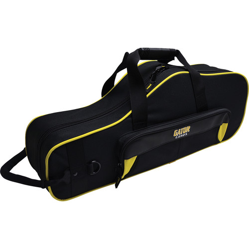 Gator Cases Spirit Series Lightweight Alto Saxophone Case (Yellow and Black)