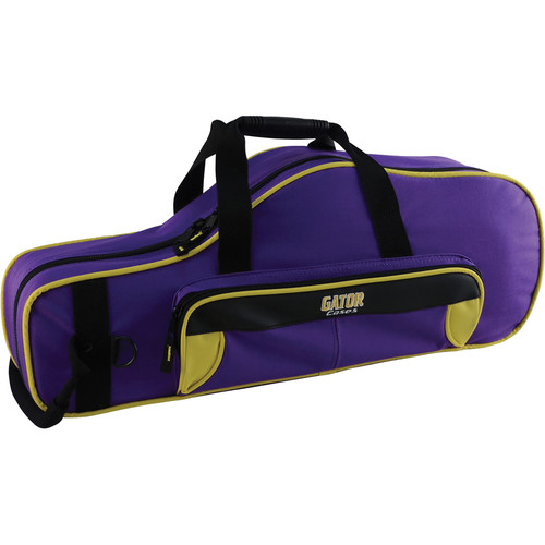 Gator Cases Spirit Series Lightweight Alto Saxophone Case (Yellow and Purple)