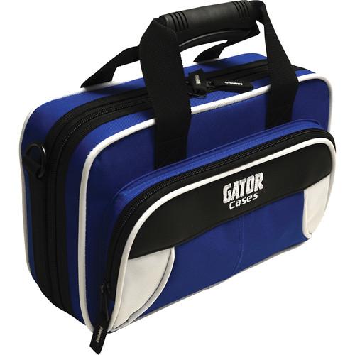 Gator Cases Spirit Series Lightweight Clarinet Case (White and Blue)