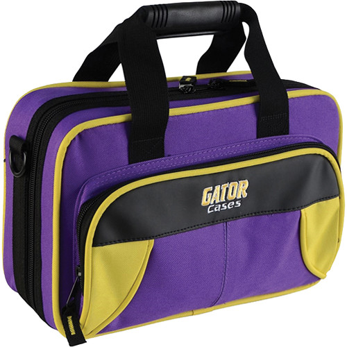 Gator Cases Spirit Series Lightweight Clarinet Case (Yellow and Purple)