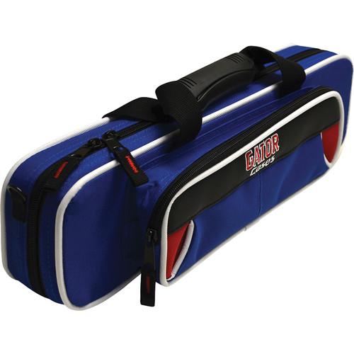 Gator Cases Spirit Series Lightweight Flute Case (Red and Blue)