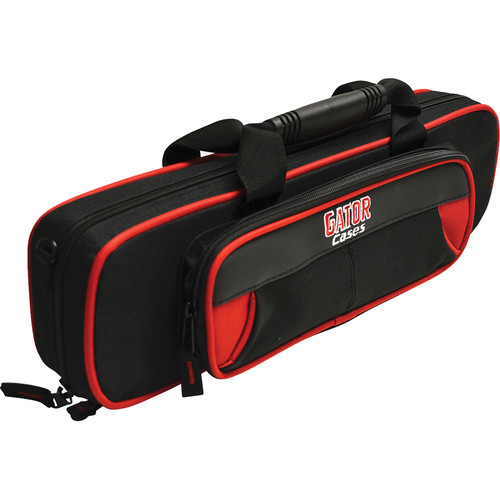 Gator Cases Spirit Series Lightweight Flute Case (Red and Black)