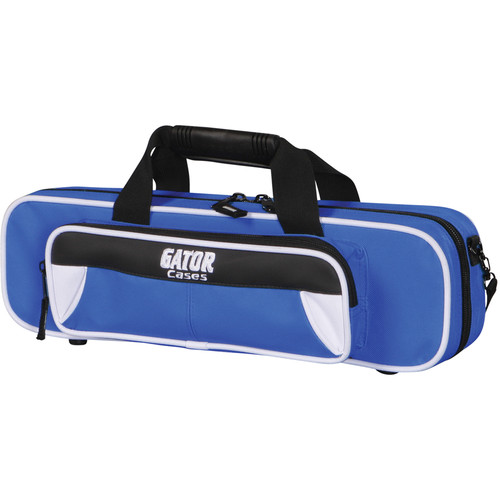 Gator Cases Spirit Series Lightweight Flute Case (White and Blue)