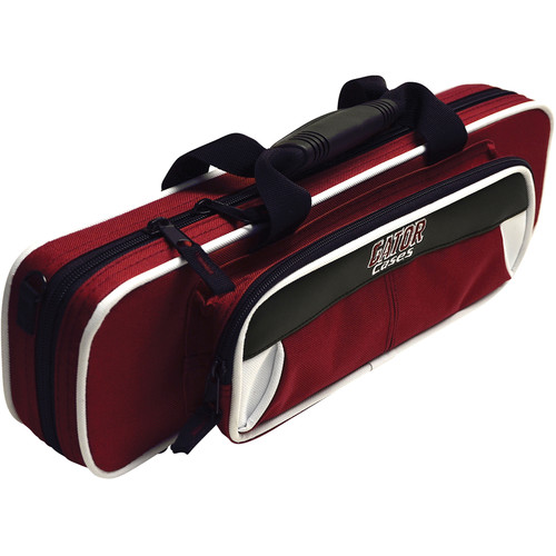 Gator Cases Spirit Series Lightweight Flute Case (White and Maroon)