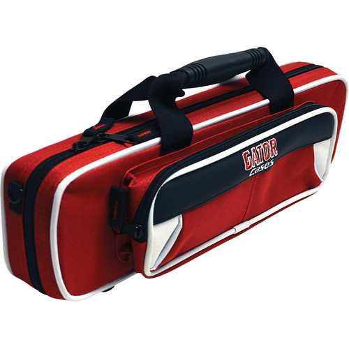 Gator Cases Spirit Series Lightweight Flute Case (White and Red)