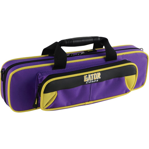 Gator Cases Spirit Series Lightweight Flute Case (Yellow and Purple)
