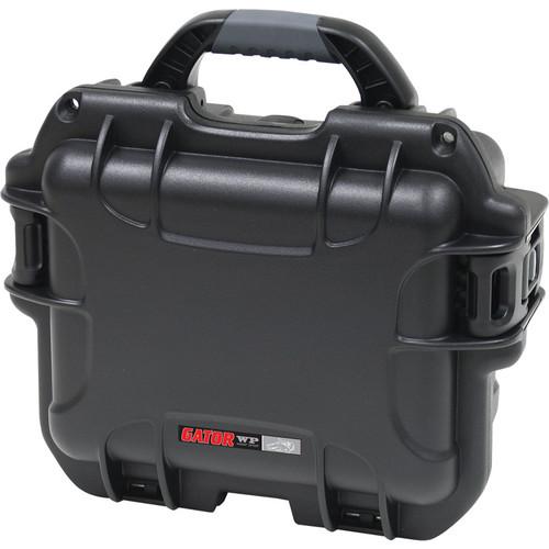 Gator Cases Waterproof Case for Handheld Wired Microphones (6 Mics, Black)