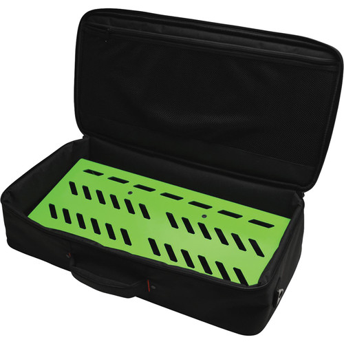 Gator Cases Aluminum Pedalboard with Carry Case (Green, Large)
