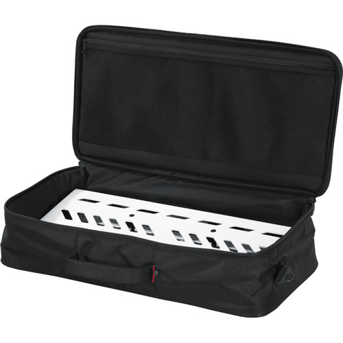 Gator Aluminum Pedalboard with Carry Case (White, Large)