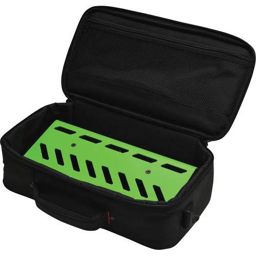 Gator Cases Aluminum Pedalboard with Carry Case (Green, Small)