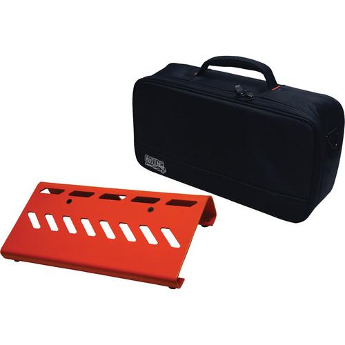 Gator Cases Aluminum Pedalboard with Carry Case (Orange, Small)