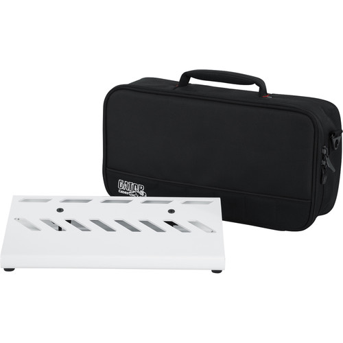 Gator Cases Aluminum Pedalboard with Carry Case (White, Small)