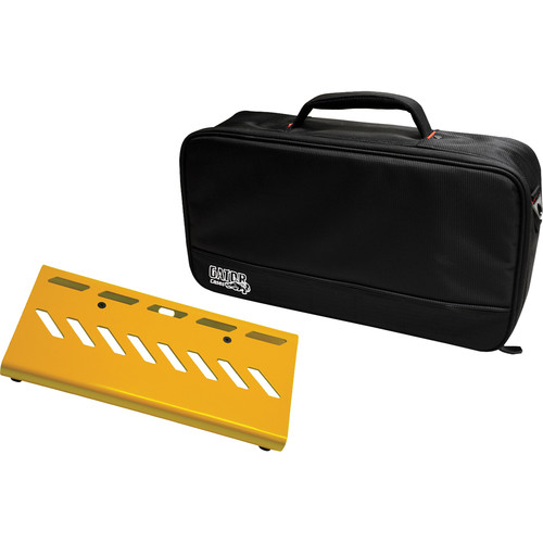 Gator Cases Aluminum Pedalboard with Carry Case (Yellow, Small)
