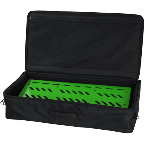 Gator Cases Aluminum Pedalboard with Carry Case (Green, Extra Large)