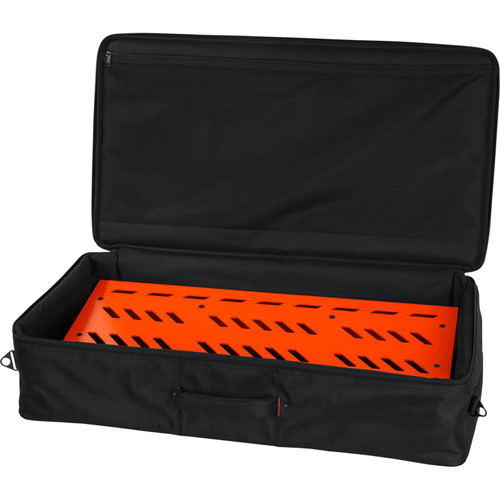 Gator Cases Aluminum Pedalboard with Carry Case (Orange, Extra Large)