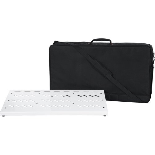 Gator Cases Aluminum Pedalboard with Carry Case (White, Extra Large)