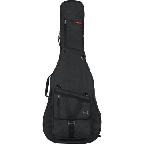 Gator Cases Transit Series Gig Bag for Acoustic Guitar (Charcoal Black)