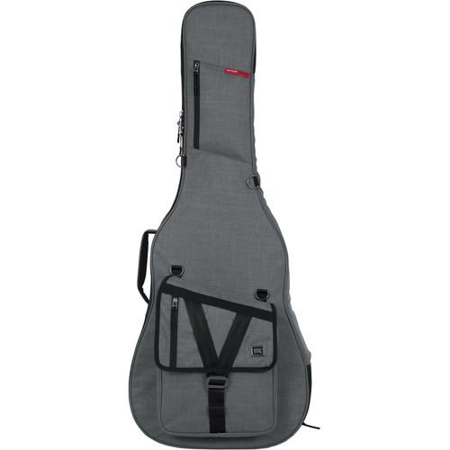 Gator Transit Series Gig Bag for Acoustic Guitar (Light Gray)