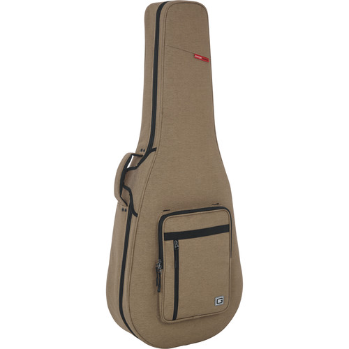 Gator Cases Rigid EPS Transit Series Lightweight Case for 12-String Dreadnought Guitars In (Tan with Beige Inter