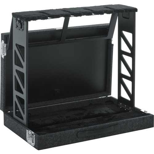 Gator Cases Compact Rack Style 4 Guitar Stand That Folds Into Case