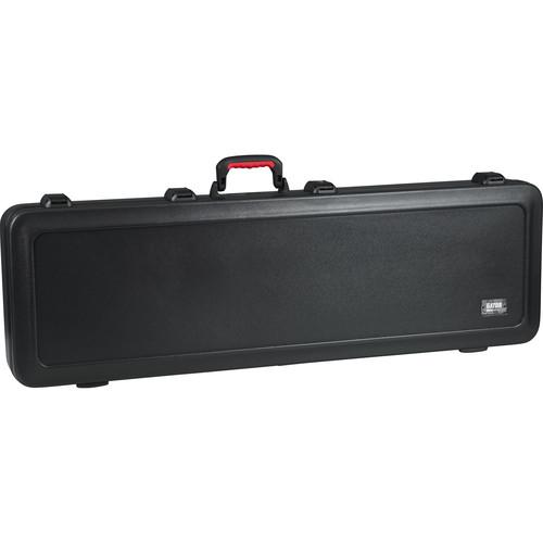 Gator Cases GTSA-GTRBASS-LED TSA Series ATA Molded Case with Built-In LED Light for Electric Bass Guitars (Black)