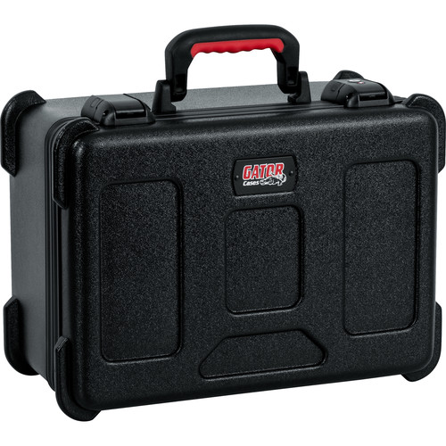 Gator Cases GTSA-MICW7 ATA-Molded Polyethylene Case with 2 Lift-Out Trays for up to 7 Wireless Microphones & Accessories