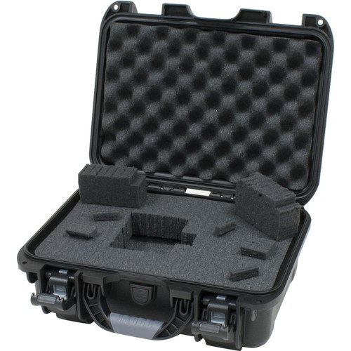Gator Cases Waterproof Injection-Molded Equipment Case with Diced Foam (Black)