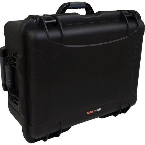 Gator Cases Waterproof Injection-Molded Equipment Case with Diced Foam and Wheels (Black)