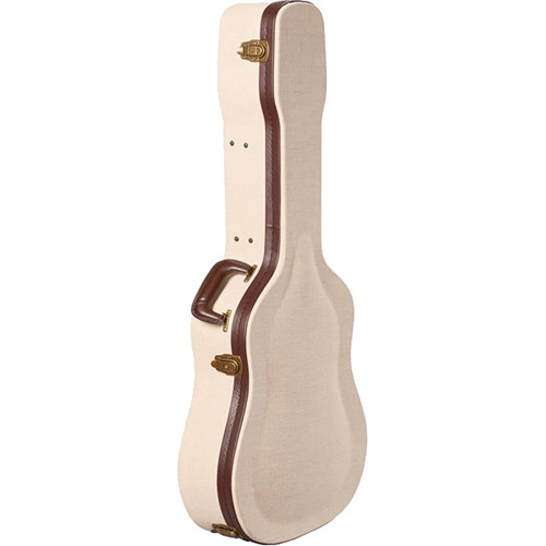 Gator Cases Journeyman Dreadnaught Acoustic Guitar Deluxe Wood Case (Beige)
