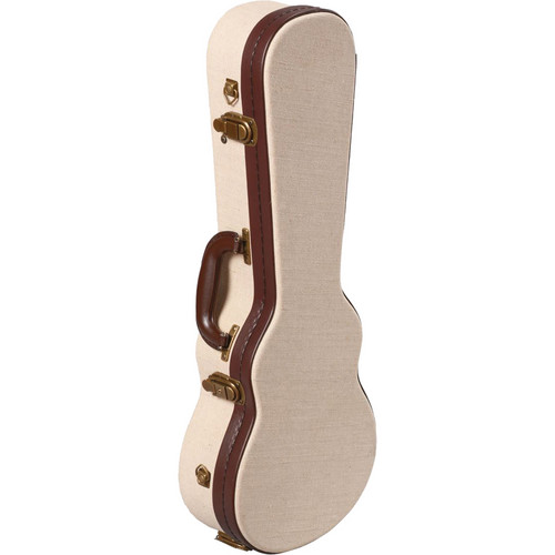Gator Cases Deluxe Wood Case for Concert Style Ukulele (Beige)
