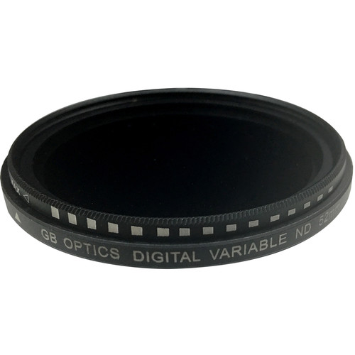 GB Optics 52mm Slim Variable Neutral Density 0.6 to 2.4 Filter (2 to 8 Stops)