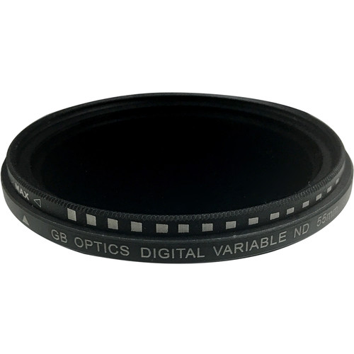GB Optics 55mm Slim Variable Neutral Density 0.6 to 2.4 Filter (2 to 8 Stops)