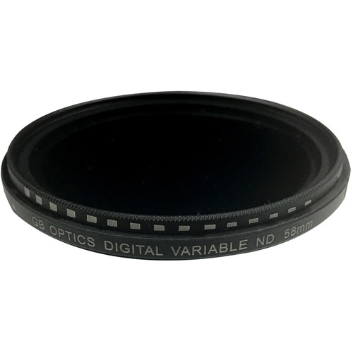GB Optics 58mm Slim Variable Neutral Density 0.6 to 2.4 Filter (2 to 8 Stops)