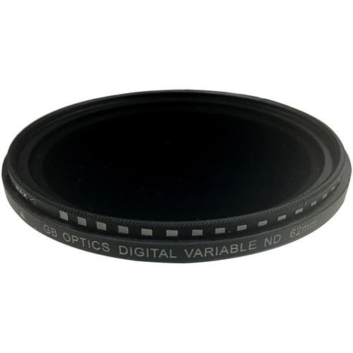GB Optics 62mm Slim Variable Neutral Density 0.6 to 2.4 Filter (2 to 8 Stops)