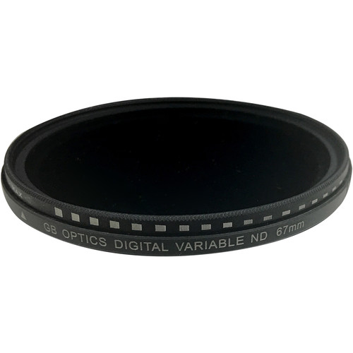 GB Optics 67mm Slim Variable Neutral Density 0.6 to 2.4 Filter (2 to 8 Stops)
