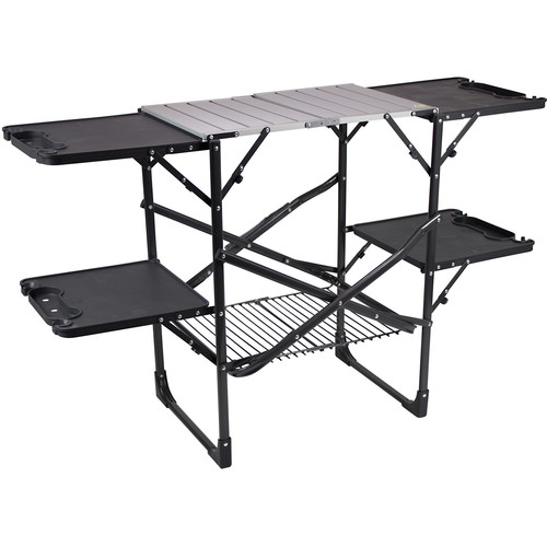 GCI Outdoor SLIM-FOLD Cook Station (Black Chrome)