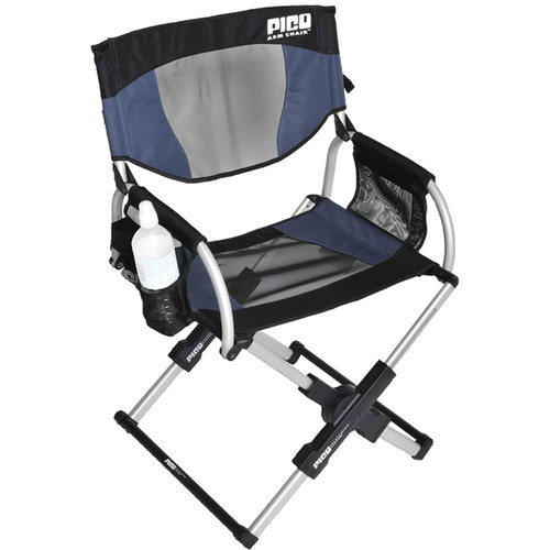GCI Outdoor PICO Telescoping Arm Director's Chair (Navy)